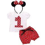FYMNSI Baby Kleinkinder Mädchen 1. Erster Geburtstag Party Minnie Kostüm Outfit Retro Gepunktet...