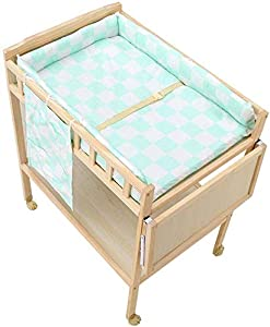 H yina Nursery Mobile Baby Changing Table Girl Boy Toddler Wooden Dresser Station with Storage  Large Countertop  Easy Assemble  60 84 100cm  Color
