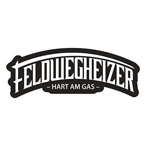 Aufkleber Feldwegheizer hart am Gas (Wetterfest)