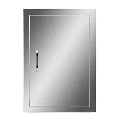 CO-Z Außenküchentüren, 304 Edelstahl, Einzelne BBQ-Zugangstür für draußen, Sommerküche, Grillstation, Außenschrank, Grill-Grill, integrierte SS BBQ Island Tür (35,6 cm B x 50,8 cm) H