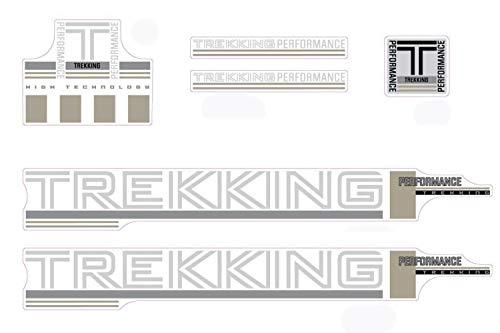 Aufkleber Fahrrad Rahmen Trekking Performance Dekor Sticker Decal Set 6-Teilig