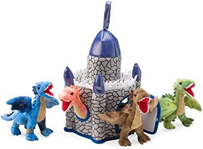 HearthSong Plush Dragon Cash special price Play Set 4 Castle: + 12 Max 86% OFF Castle Dragons