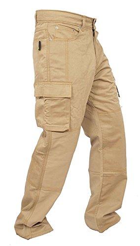 newfacelook Hombres Forro Protector Moto de la Motocicleta Trabajo Pantalones Jeans Cargo Blindada Protección Aramid