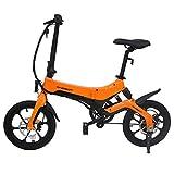 KERS Bicicleta eléctrica plegable, 36 V/250 W, 3 modos de conducción, pantalla LCD Full View, pedal asistido a 25 km/h.