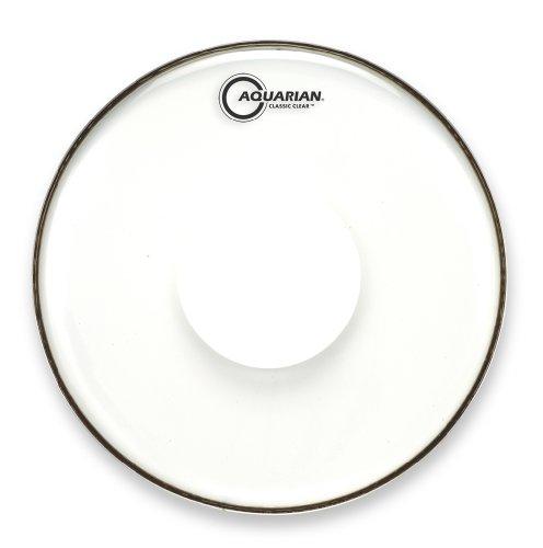 Aquarian Classic Clear 41 cm (16 Zoll) Drumhead / Schlagzeugfell mit Power Dot
