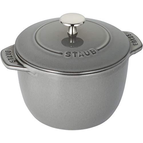 STAUB Gusseisen, rund, 16 cm, Kocotte, Grau
