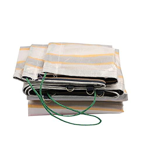 OeltWsoif Camión De Servicio Pesado Lona Cubrir,Resistente A Los Rayos UV Impermeables Y A Prueba De Desgarros Lona Alquitranada con Ojales Y Bordes Reforzados para Coches Barcos Refugio-Blanco 5x8m