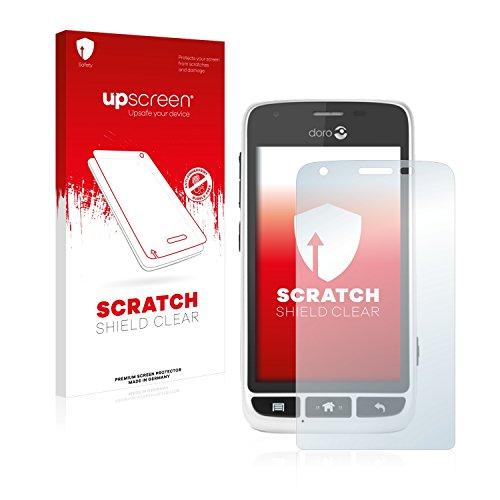 upscreen Schutzfolie kompatibel mit Doro Liberto 820 Mini – Kristallklar, Kratzschutz, Anti-Fingerprint