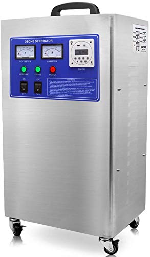 Sawera Generatore di ozono Portatile, Generatore di ozono Industriale purificatore del Filtro dell'Aria della Macchina di disinfezione 6 g/h per Interni, casa, Fabbrica, Ufficio e Barca