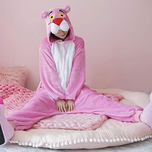 FZH Pijama Pijama de Pantera Rosa Kigurumi de Anime para Adultos, Pijama de Invierno cálido para...