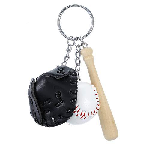 KENYG Creative Simulation Baseball Anhänger Schlüsselanhänger, Schlüsselanhänger, Tasche, Accessoires, Modeschmuck, Schwarz, NA