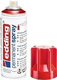 Edding 5200-952 Spray de Pintura acrílica, Rojo tráfico Brillo RAL 3020, 200 ml (Paquete de 1)