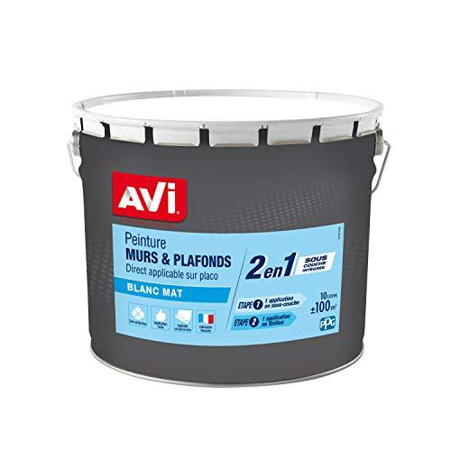 AVI Peinture Murs et Plafonds - Mat - 10 L