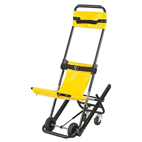 Dbtxwd EMS Treppenstuhl, Treppensteiger Rollstuhl Medical Lift Treppenstuhl Für Krankenwagen Feuerwehrmann Evakuierung Verwendung, 350 Lb, Gelb
