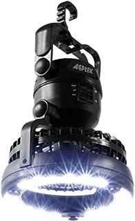 AGPTEK ファン付き キャンプライト LED ランタン 扇風機付き 360度回転 野営・夜釣り・登山・防災・非常用 凉しい超明るい 懐中電灯 防災グッズ 地震・震災・津波・停電 緊急対応用品