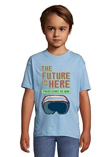 Desconocido The Future Is Here Virtual Reality Pixel Art La Camiseta del niño Large