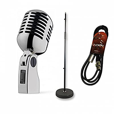 Inta Audio Retro 50's Mic Performance Bundle with Classic Stand and Cable