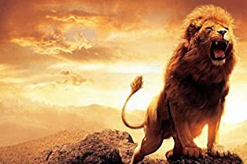 WOMGD® Roaring Lion King legpuzzels 1000 stukjes, houten puzzels, hoge moeilijkheidsgraad Educatief spel Intelligentie Leren Educatief speelgoed