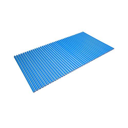 東プレ シャッター式風呂ふた 波型 カラーウェーブ 75×140cm ブルー L14