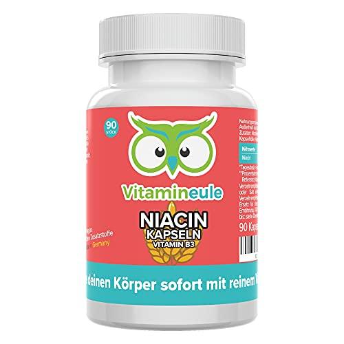 Vitamineule | Niacine-capsules | Veganistisch | Flushfree | 500 mg pure vitamine B3 (nicotinamide)