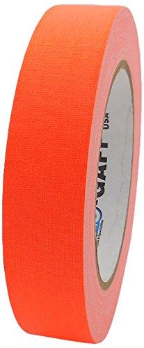 Pro-Gaff RS127OR24X25 - Nastro in tessuto opaco fluorescente, 24 mm x 25 m Singolo Small Arancione fluorescente.