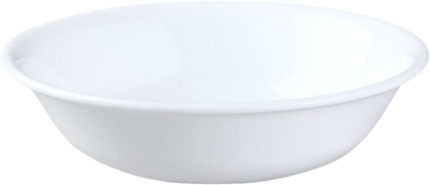 Corelle Livingware 10-Ounce Dessert Bowl, Winter Frost White Set of 4 bowls