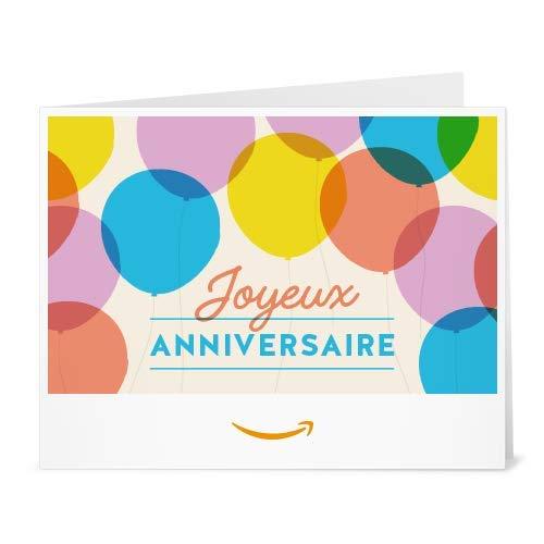 Chèque-cadeau Amazon.fr - Imprimer - Ballons d'anniversaire
