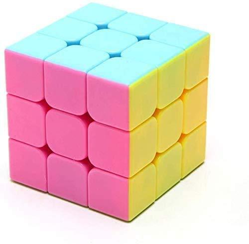 LINANNAN De Tercer Orden Cubo de la Velocidad Genuina de Color Rosa Suave 3x3x3 Puzzle de Juguetes educativos