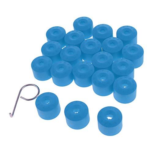 non-brand Sharplace 20PCS Écrou De Roue Pneu Vis Capuchon Pare-poussière - Bleu
