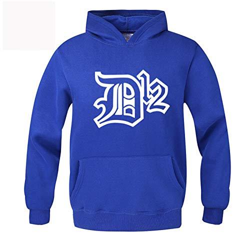 gran impresión casual slim tamaño suéter de los hombres de la carta de la chaqueta de los hombres con capucha suéter de ajuste - azul - XXX-Large