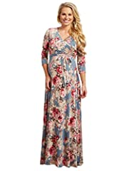 Welcome to the Wonderful World of Motherhood! PinkBlush Outlet brings to you a collection of cute and stylish, quality made maternity-wear that will suit every mothers' needs! Made in the USA (California) A floral printed maternity maxi dress featuri...