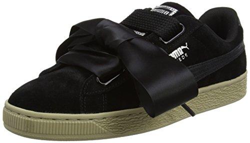 Puma Suede Heart Safari, Zapatillas Mujer, Negro (Black 364083/03), 36 EU