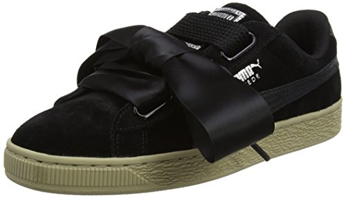 Puma Basket Heart Metallic Safari 364083, Zapatillas para Mujer, Negro (Black 364083/03), 38.5 EU