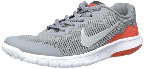 Nike Filles Expérience Flex 4 GS Chaussures de Course - Gris/Orange (4,5 M US BIG Kid)