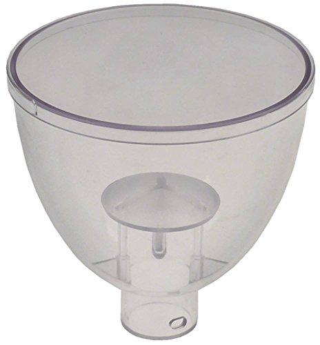 Ascaso Kaffeebohnenbehälter für Kaffeemühle I2, I2D mit Deckel Höhe 120mm ø 120mm Aufnahme ø 33,5mm mit Deckel