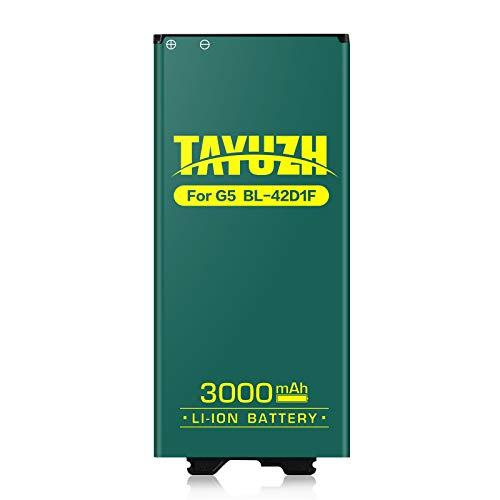 LG G5 Battery, TAYUZH 3000mAh Li-ion Battery Replacement for LG G5 BL-42D1F H820 LS992 H830 VS987 US992 H845 Dual H850 H858 Spare Battery