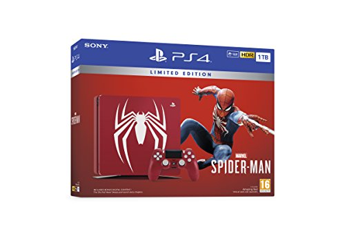Playstation Limited Edition Rouge étonnant Spider-Man Marvel 1tb ps4 ™