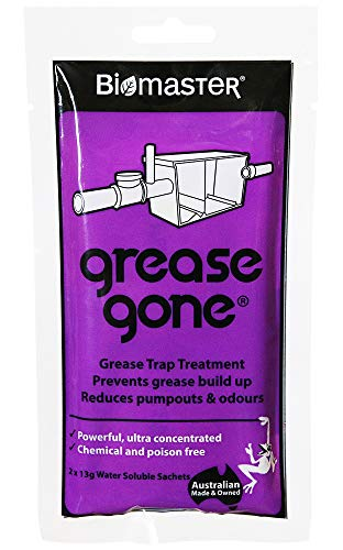 Grease Gone Grease Trap Cleaner Treatment, Turns Fat, Oil and Grease to Water, Reduces Odors and Pump-Outs (2 Soluble Sachets)
