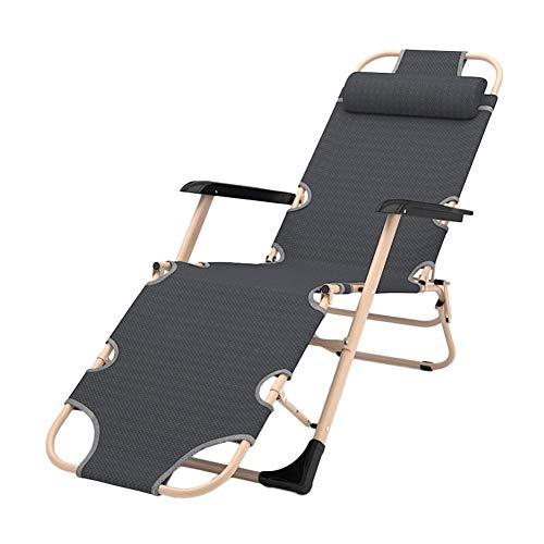 Fauteuil-terrasse géant Gravity surdimensionné pour personnes lourdes, chaise portable pliante pour plage, piscine, jardin, extérieur et intérieur, gris, support de 200 kg (couleur: sans coussin