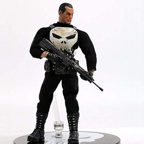 QI-shanping POP Punisher, Tuch Serie, beweglicher, Handgemachtes Spielzeug Statue Modell Tischdekoration, PVC-Sammlung Fertigkeit-Dekoration-Geschenk, Höhe ca. 15cm