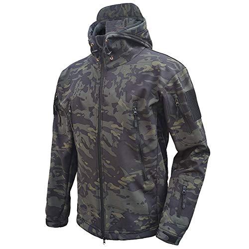 MakingDa Chaquetas impermeables para hombre, de invierno, casual, con capucha, forro polar, forro polar, táctico, militar, pesca, caza, escalada