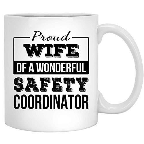 N\A Stolze Frau des Sicherheitskoordinators Geschenke Lustige Kaffeetasse Jubiläum Keramik Teetasse Weiß 11OZ
