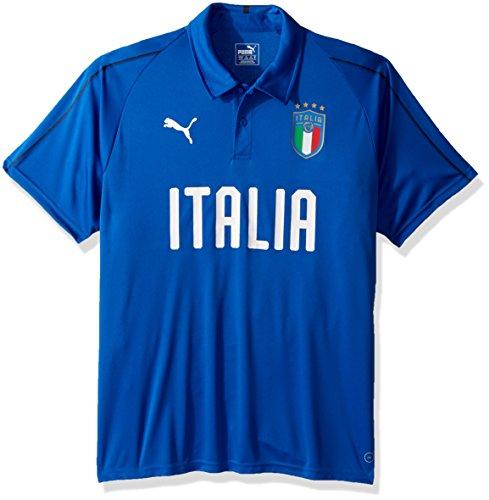 PUMA Polo de poliéster FIGC Italia para hombre - 75333801, M, Azul Claro