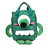 LOCOMO Bags - Bolso Cruzados de poliéster para Mujer Verde Big Monster Backpack, Medium Monster Backpack (Verde) - BPK009s02
