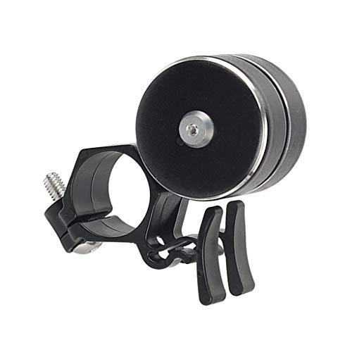 HomeDecTime MTB Road Bell Manillar Alarma Bocina 120 DB Bocina Bocina - Negro, 70mm