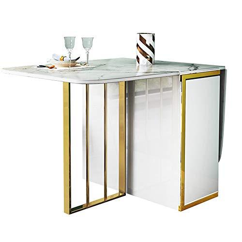 VBARV Mehrzweck-Küchen-Esstisch, ausziehbarer Esstisch, platzsparender, vielseitiger Küchentisch, zusammenklappbares Design mit runden Kanten, zweilagige Aufbewahrungsfunktion