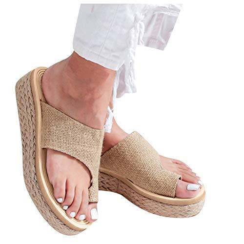 Sandalias De Mujer Zapatillas De Cuña Con Plataforma Chanclas Ortopédicas Zapatos De...
