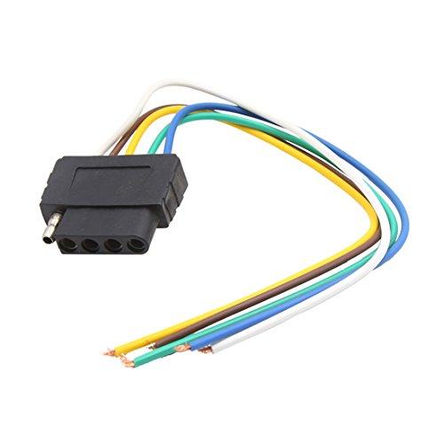 sourcing map 5 Pin verkabelte USA Standard Buchse Anhängerkupplung Adapter für Auto Fahrzeug DE de