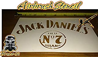 Whiskey Airbrush Stencil Jack Daniels reusable 7.1