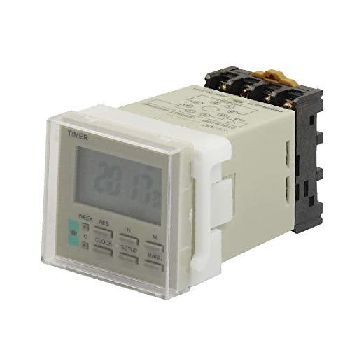 X-DREE Interruptor de temporizador electrónico de contacto 10A 250VAC con base de zócalo AC220V XY-A5F(10A 220V AC For UAE Contact Electronic Timer Switch w s-ocket Base AC220V XY-A5F